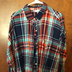 Old Navy Multi-Color Boyfriend Style Flannel